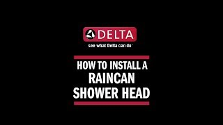 How to Install a Raincan Shower Head