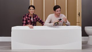 How to Install a Delta® Curved Bathtub