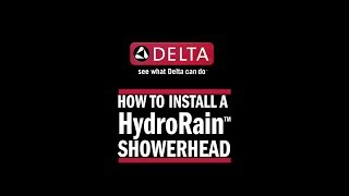 How to Install a HydroRain® 2-in-1 Raincan Shower Head