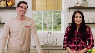 How to Install a Delta® Two Handle Centerset Kitchen Faucet with a Side Spray